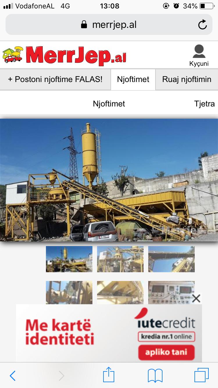 Linje prodhim betoni e re