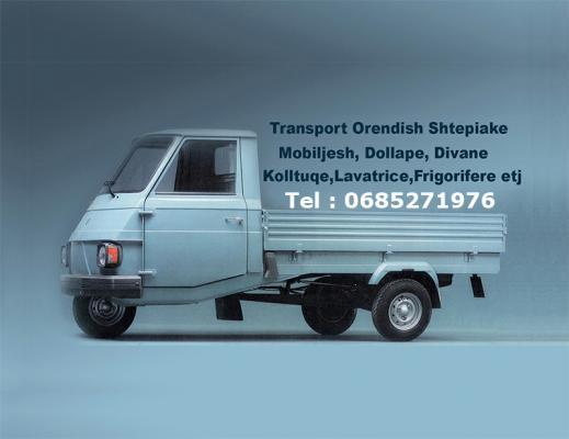 Kryejme Transport Orendish Shtepiake, Mobiljesh, Dollape, Divane, Kolltuqe, Lavatrice, Frigorifere e