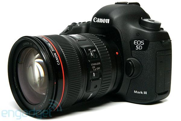 Canon EOS 5D Mark III kamera 800 Euros