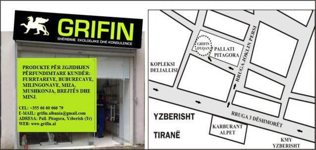DYQAN PER SHERBIME DHE PRODUKTE DEZINFEKTIMI- GRIFIN ALBANIA. Per te gjitha nevojat tuaja!