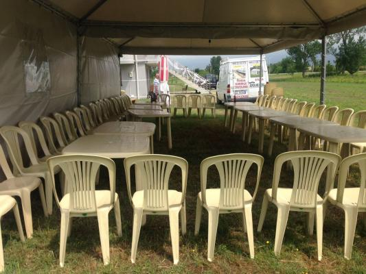 Noka Event- Tavolina karrige tenda stola me qera