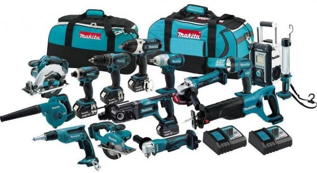 Makita 18-Volt Kit LXT Lithium-Ion Cordless Combo (15-Tool) Bateri 3,0 Ah