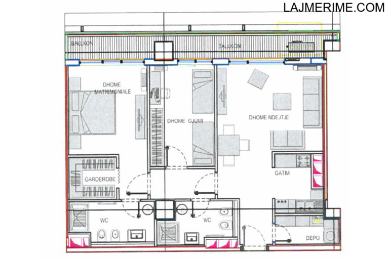 Apartament 2+1+Ballkon - Rezidenca Ambasador 3