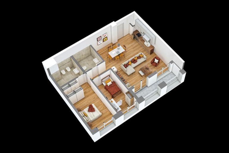 SUPER OKAZION! Apartament 2+1 te Ali Demi