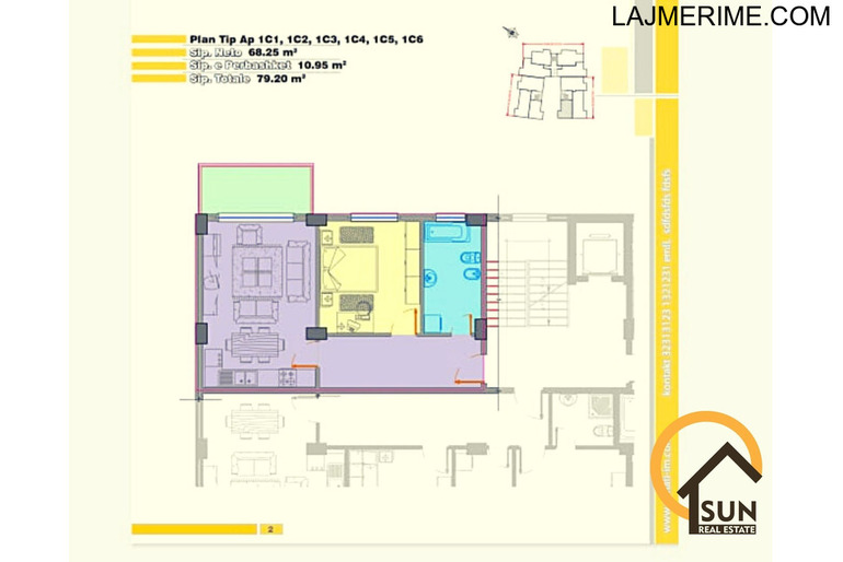Apartamente 1+1 per shitje mbas Teatrit ''Migjeni''